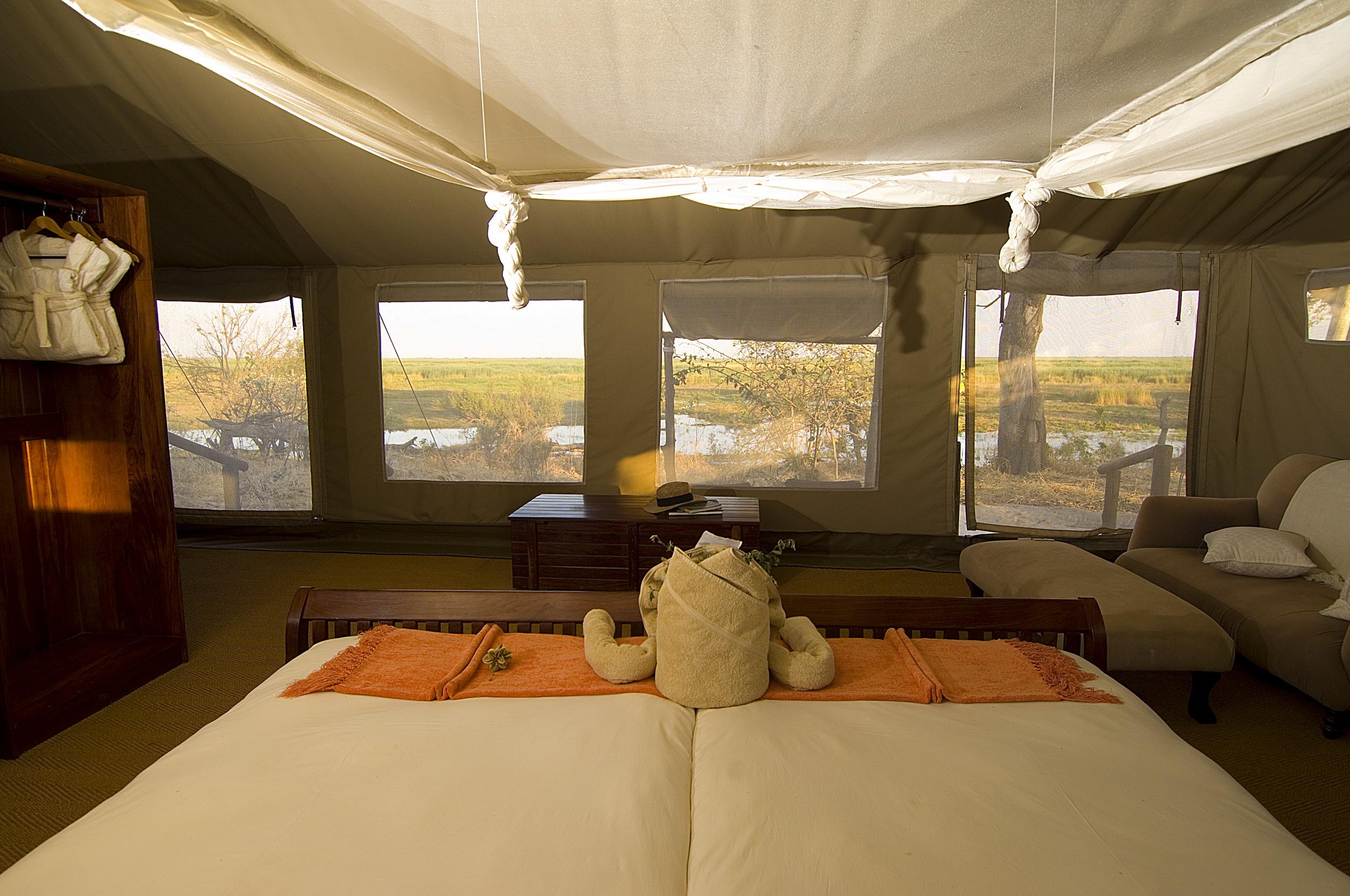 Interior tent looking towards the marsh1